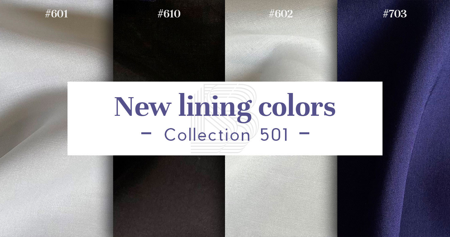 New lining colors - Collection 501